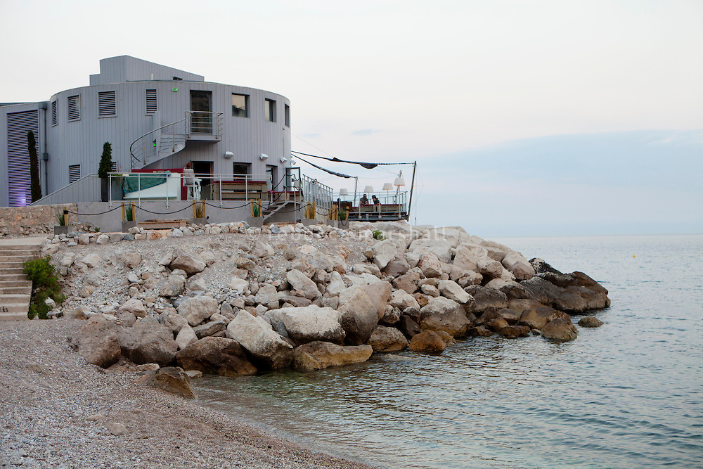 A'Trego, a complex of restaurants, a beach club, terrace and nightclub designed by Philippe Starck, Cap d'Ail, France, 5 July 2013