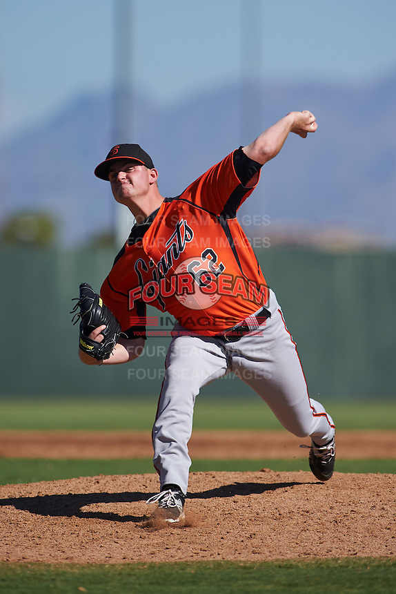 San Francisco Giants pitcher Mac Marshall (62) during an instructional league game against the Kansas City Royals on October 23, 2015 at the Papago Baseball Facility in Phoenix, Arizona.  (Mike Janes/Four Seam Images)