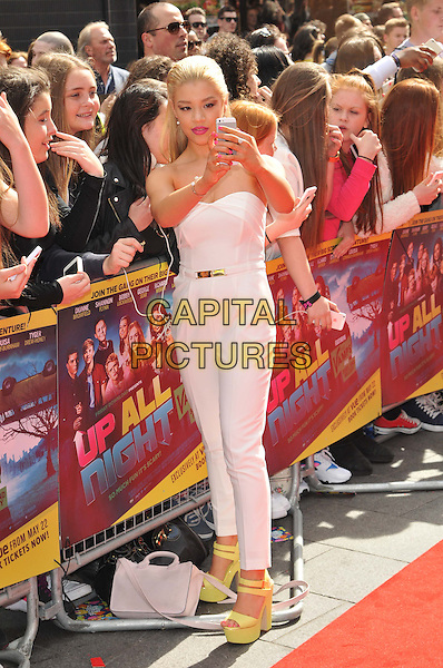 LONDON, ENGLAND - MAY 10: Molly Rainford attends the Friday Download's &quot;Up All Night&quot; UK film premiere, Vue West End cinema, Leicester Square, on Sunday May 10, 2015 in London, England, UK. <br /> CAP/CAN<br /> &copy;Can Nguyen/Capital Pictures