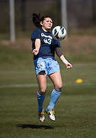 Brooke Elby. The Washington Spirit defeated the North Carolina Tar Heels in a preseason exhibition, 2-0, at the Maryland SoccerPlex in Boyds, MD.