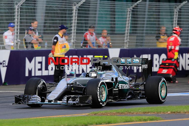 20.03.2016. Albert-Park-Circuit, Melbourne,  AUS, F1, Formula 1 Rolex Australien Grand Prix,  Race01 im Bild   <br /> Nico Rosberg (GER#6), Mercedes AMG Petronas Formula One Team<br /> <br /> <br /> Foto &copy; nordphoto /  Bratic
