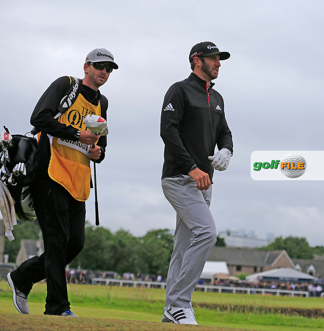 Dustin JOHNSON (USA) walks off the 2nd tee during Sunday's Round 3 of the 144th Open Championship, St Andrews Old Course, St Andrews, Fife, Scotland. 19/07/2015.<br /> Picture Eoin Clarke, www.golffile.ie