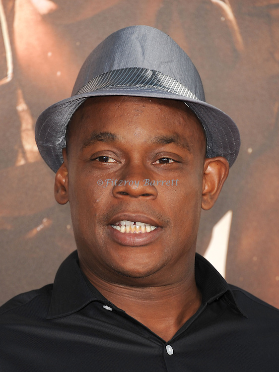 Bokeem Woodbine at the RIDDICK World Premiere, held at the Regency Village Theater Los Angeles, Ca. August 28, 2013