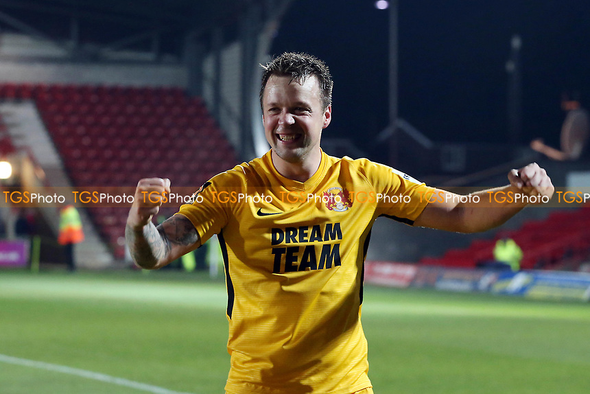 O's JOsh COulson @ ft during Wrexham vs Leyton Orient, Vanarama National League Football at the Racecourse Ground on 24th November 2018
