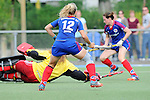 Mannheim, Germany, September 27: During the 1. Bundesliga Damen Saison 2014/15 field hockey match between Mannheimer HC and TSV Mannheim on September 27, 2014  Mannheimer Hockey Club in Mannheim, Germany. Final score 3-3 (2-3). (Photo by Dirk Markgraf / www.265-images.com) *** Local caption *** Lydia Haase #12 of Mannheimer HC