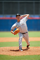 GCL Marlins relief pitcher Brett Lilek (68) delivers a pitch during a game against the GCL Mets on August 3, 2018 at St. Lucie Sports Complex in Port St. Lucie, Florida.  GCL Mets defeated GCL Marlins 3-2.  (Mike Janes/Four Seam Images)