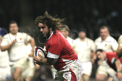 Adam James break pass england and scores a try- Photo Steven Harrington/ ActionPlus Editorial Licenses Only. 06.02.2010. 6 Nations International Rugby England verses Wales Feb 6th.