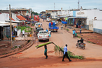 A street in Gulu Town. Since the end of the war against Lord's Resistance Army (LRA), Gulu, the biggest town in northern Uganda, became a hub of trade and commerce.
