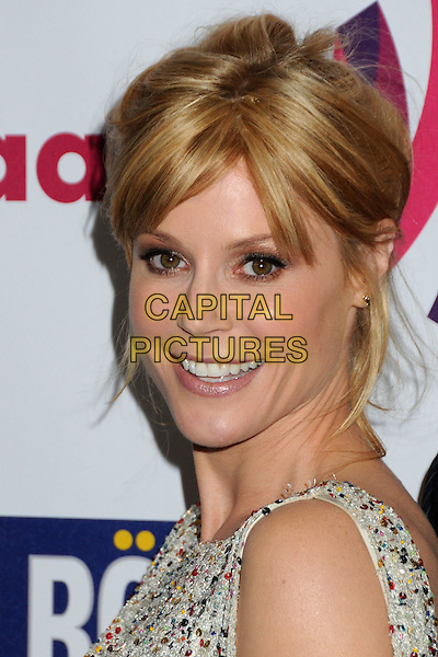 JULIE BOWEN .22nd Annual GLAAD Media Awards held at the Westin Bonaventure Hotel, Los Angeles, California, USA,    .10 April 2011..portrait headshot hair up smiling side .CAP/ADM/BP.©Byron Purvis/AdMedia/Capital Pictures.
