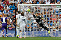 Real Madrid's Costa Rican goalkeeper Keylor Navas in action