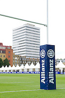 20120823 Copyright onEdition 2012©.Free for editorial use image, please credit: onEdition..General view of Allianz corporate branding at The Honourable Artillery Company, London in the pre-season friendly between Saracens and Stade Francais Paris...For press contacts contact: Sam Feasey at brandRapport on M: +44 (0)7717 757114 E: SFeasey@brand-rapport.com..If you require a higher resolution image or you have any other onEdition photographic enquiries, please contact onEdition on 0845 900 2 900 or email info@onEdition.com.This image is copyright the onEdition 2012©..This image has been supplied by onEdition and must be credited onEdition. The author is asserting his full Moral rights in relation to the publication of this image. Rights for onward transmission of any image or file is not granted or implied. Changing or deleting Copyright information is illegal as specified in the Copyright, Design and Patents Act 1988. If you are in any way unsure of your right to publish this image please contact onEdition on 0845 900 2 900 or email info@onEdition.com
