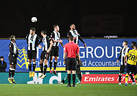 4th February 2020; Kassam Stadium, Oxford, Oxfordshire, England; English FA Cup Football; Oxford United versus Newcastle United; Liam Kelly of Oxford scores from a free kick in 85th minute 1-2