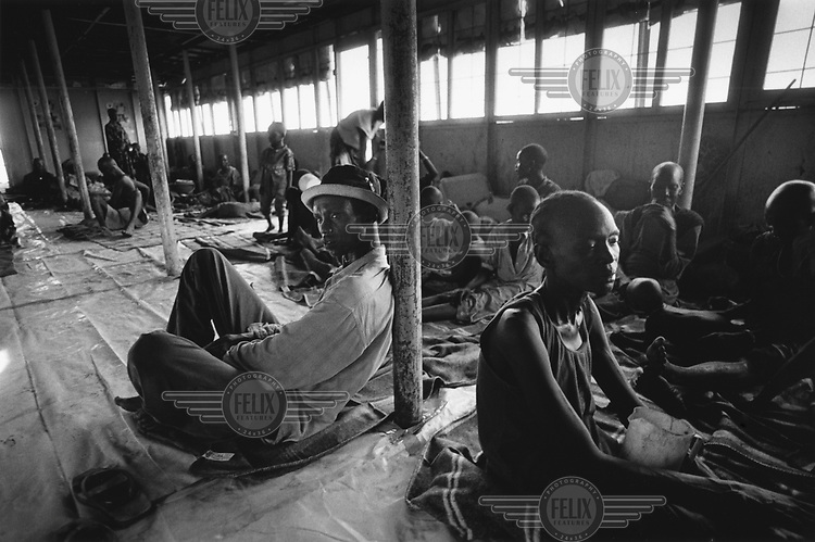 Internally Displaced Persons (IDPs) on a barge organised by the United Nations (UN) to take them up the river Nile from Juba to their homeland near Bor.