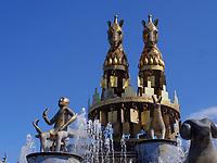Kolchis-Brunnen von David Gogichaishvili am Davit Aghmashenebeli - Platz, Kutaisi, Imeretien - Imereti;, Georgien, Europa<br /> Kolchi Foountain at Davit Aghmashenebeli -Square, Kutaisi,  Inereti,  Georgia, Europe