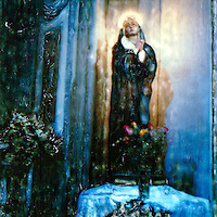 The blessed Madonna waits for the true believers to honor them with her blessings.<br />