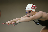 STANFORD, CA - JANUARY 22:  Sam Woodward of the Stanford Cardinal during Stanford's 173-125 win over Arizona on January 22, 2010 at the Avery Aquatic Center in Stanford, California.