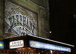 Theatre Marquee for the first Broadway preview performance of 'The Elephant Man' starring Bradley Cooper at The Booth Theatre on November 7, 2014 in New York City.