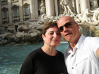 Marcello M. & Anita E. at the Trevi Fountain, Rome.