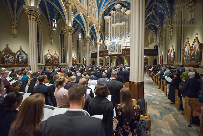 January 20, 2017; Blessing and Organ Recital in the Basilica of the Sacred Heart. (Photo by Barbara Johnston/University of Notre Dame)