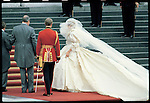 Princess Diana at her wedding to Prince Charles. London, United Kingdom, July 1981.<br /> <br /> &copy; David BURNETT (CONTACT PRESS IMAGES)