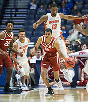 NWA Democrat-Gazette/BEN GOFF @NWABENGOFF<br /> Jalen Harris, Arkansas guard, in the first half vs Florida Thursday, March 14, 2019, during the second round game in the SEC Tournament at Bridgestone Arena in Nashville.