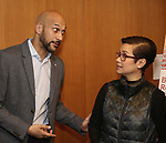 Keegan-Michael Key and Lea Salonga attends the Theatre Forward Broadway Roundtable on February 2, 2018  at UBS in New York City.