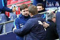 Tottenham manager Mauricio Pochettino and AFC Wimbledon manager Neal Ardley during Tottenham Hotspur vs AFC Wimbledon, Emirates FA Cup Football at Wembley Stadium on 7th January 2018