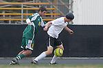 Palos Verdes, CA 02/07/12 - Danny Bishop (Peninsula #4) in action during the Mira Costa vs Peninsula Boys Varsity soccer bay league game.