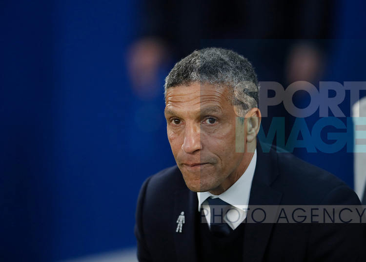 Chris Huyton Manager of Brighton during the premier league match at the Amex Stadium, London. Picture date 17th April 2018. Picture credit should read: David Klein/Sportimage