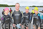 Michelle O'Sullivan, John Connolly, Elaine Browne and Kevina Reel at the Killarney Lions club triathlon at Ross Castle on Saturday ..