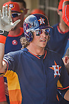 22 March 2015: Houston Astros outfielder Colby Rasmus celebrates scoring a run during Spring Training action against the Pittsburgh Pirates at Osceola County Stadium in Kissimmee, Florida. The Astros defeated the Pirates 14-2 in Grapefruit League play. Mandatory Credit: Ed Wolfstein Photo *** RAW (NEF) Image File Available ***
