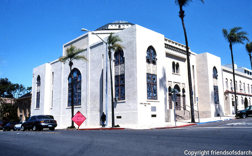 San Diego: Temple Beth Israel, Northwest corner of 3rd & Laurel. Built in 1926. William Wheeler, Arch.  (Photo '80)