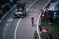 Boy Van Poppel (NED/Trek-Segafredo) up the final climb to Pratonevoso<br /> <br /> stage 18: Abbiategrasso - Pratonevoso (196km)<br /> 101th Giro d'Italia 2018