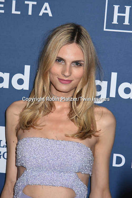 supermodel Andreja Pejic attends the 27th Annual GLAAD Media Awards on May 14, 2016 at the Waldorf Astoria Hotel in New York City, New York, USA.<br /> <br /> photo by Robin Platzer/Twin Images<br />  <br /> phone number 212-935-0770