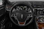 Car pictures of steering wheel view of a 2017 Lincoln Continental Reserve 4 Door Sedan Steering Wheel