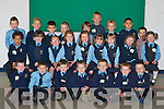 FIRST CLASS: Mrs Coffey's class who started their first day in St Oliver's National School, Killarney, on Monday. Front row l-r: Craig Boyle, Jan Kristof, Tomas Connolly, Nikita McGough, Mark Sheahan, Darragh Cremins and Kieran Pierce. Middle row l-r: James Njie, Clodagh Morrissey, Caitlin Brosnan, Rachel Moynihan, Rebecca Doyle, Kim Murphy, Michaela Lynch, Niamh Cronin and Ava Leslie. Back row l-r: Craig O'Sullivan-Doyle, Devlin O'Sullivan, Jonathon Majewski, Macie Adanczyk, Killian Hickey, Kamil Aieksander, Ronan Buckley, David Novak and Bolagzewski Jeremi.