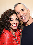 Ana Villafañe with director Jerry Mitchell of the Broadway production of 'On Your Feet!' celebrate their 500th performance at Marquis Hotel  on January 18, 2017 in New York City.