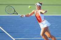 Washington, DC - August 3, 2019: Catherine McNally (USA) chases down the ball during WTA Woman's Doubles Championship at Rock Creek Tennis Center, in Washington D.C. (Photo by Philip Peters/Media Images International)
