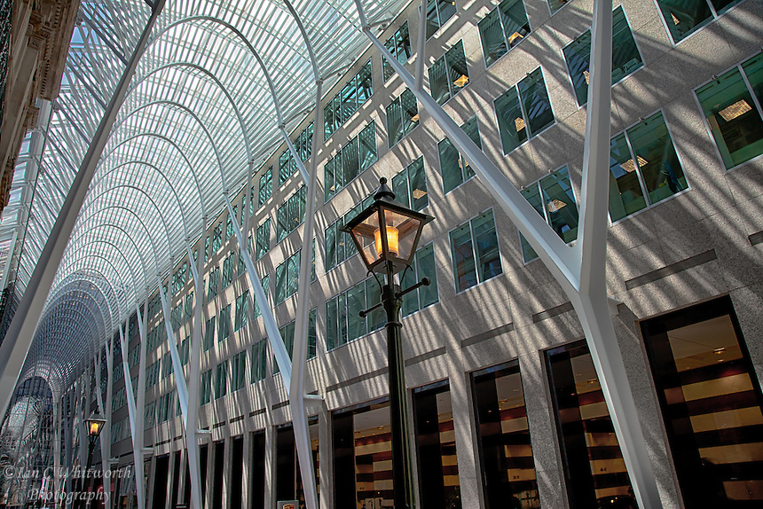 Looking down the beautiful Allen Lambert Galleria in downtown Toronto
