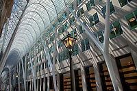Looking down the beautiful Allen Lambert Galleria in downtown Toronto