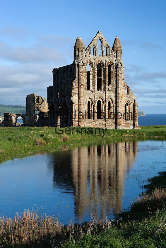 Great Britain, England, North Yorkshire, Whitby: Ruins of 13th century Benedictine Abbey