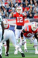 October 21, 2012 New England Patriots quarterback Tom Brady (12)  during the New England Patriots vs New York Jets game played at Gillette Stadium in Foxborough, Massachusetts.   Eric Canha/CSM