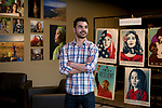 St. Norbert College's Fouad Alkhouri ('17) stands inside the Norman Miller Center for Peace & Justice on May 10, 2017. Alkhouri spent his college career working at the center.