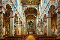 Germany, Baden-Wurttemberg, Black Forest, Gengenbach: town church St Mary - interior | Deutschland, Baden-Wuerttemberg, Schwarzwald, Gengenbach im Ortenaukreis: Stadtkirche St. Marien - innen
