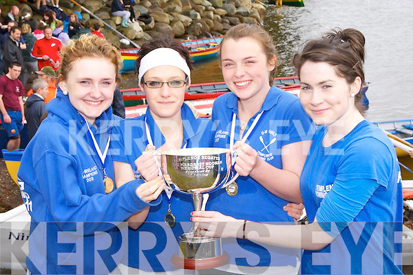 The Templenoe crew that won the minor ladies race at the Templenoe Regatta on Sunday l-r: Katie Twomey, Yvonne O'Connell, Megan Harrington and Irene O'Sullivan..