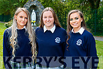 Caoimhe Tobin, Leanne Savage and Clodagh McHugh, students from Presentation Secondary School, Tralee, who attended their graduation Mass in St. John's Church, Tralee, on Friday last.