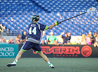 Annapolis, MD - July 7, 2018: Chesapeake Bayhawks Matt Rees (44) attempts a shot during the game between New York Lizards and Chesapeake Bayhawks at Navy-Marine Corps Memorial Stadium in Annapolis, MD.   (Photo by Elliott Brown/Media Images International)