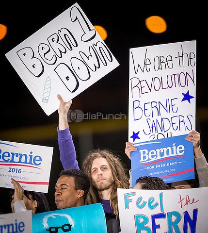 LAS VEGAS, NV - November 8, 2015: Atmosphere at the Bernie Sanders rally in North Las Vegas, NV on November 8, 2015. Credit: Erik Kabik Photography/ MediaPunch