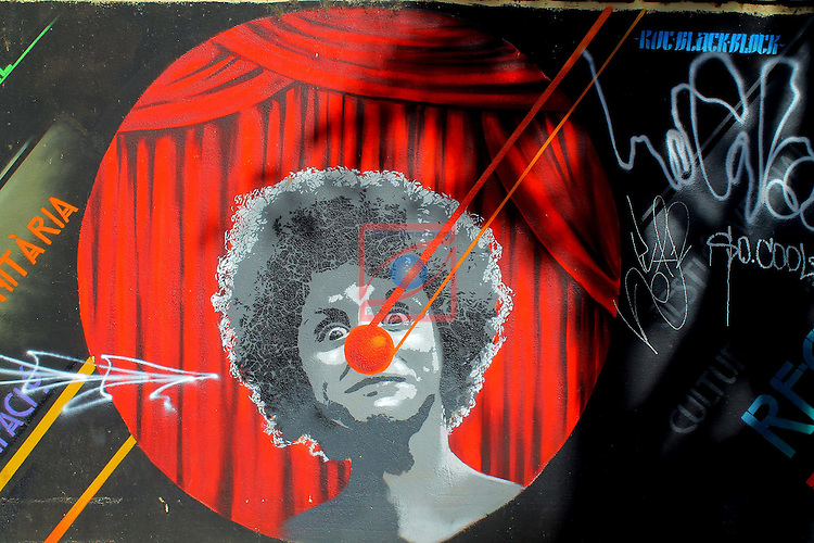 Street Art-Graffittis.<br /> Teatre Arnau-Avda. del Paral&middot;lel.<br /> Barcelona - Poble Sec (Sants-Montjuic).