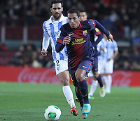 16.01.2013 Barcelona, Spain. Spanish Cup, quarter-final first leg. Picture show  Adriano  in action during game FC Barcelona v Malaga at Camp Nou.